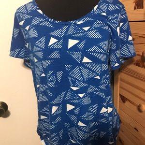 LULAROE patterned blouse